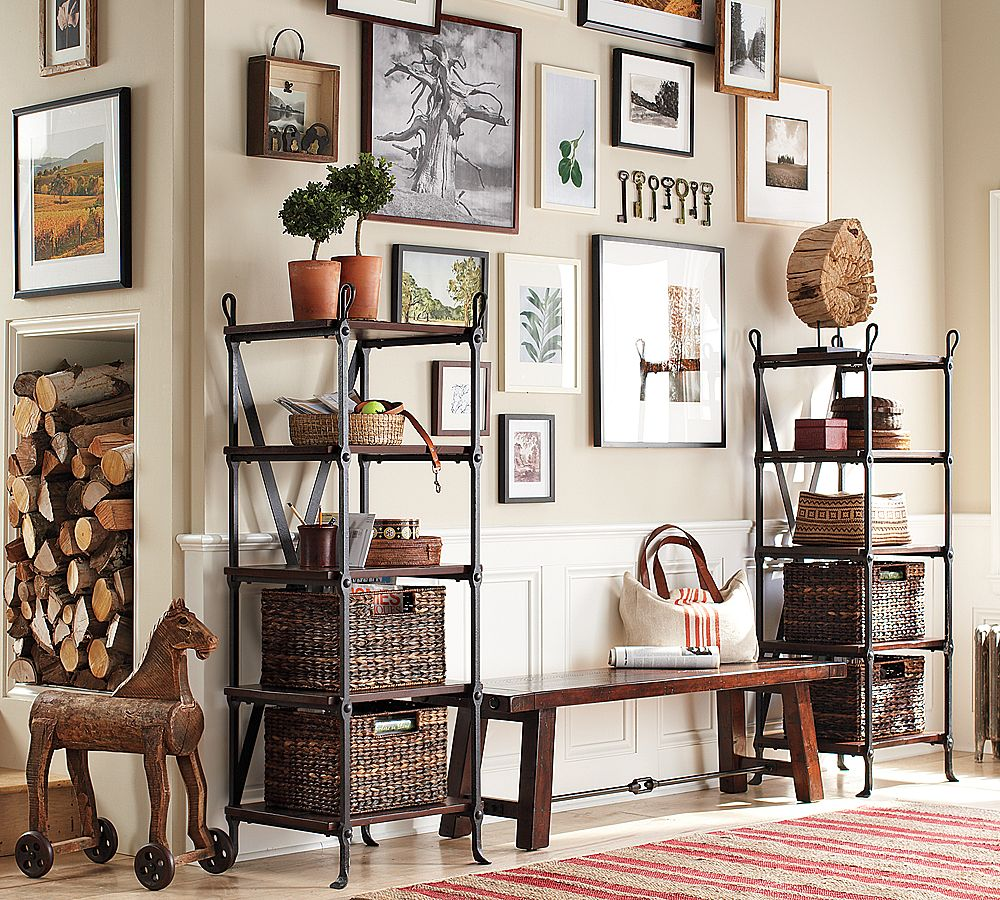 Living Room As Art Gallery: Pottery Barn