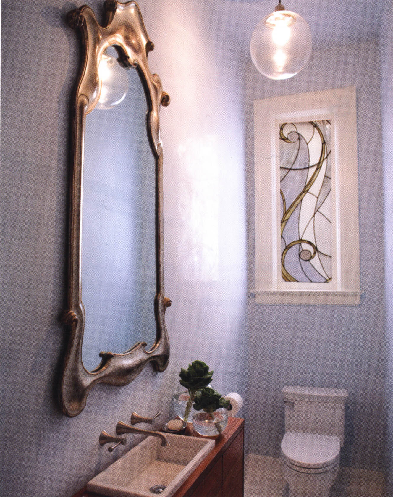Bathroom a la art nouveau efedesigns for Art nouveau bathroom design