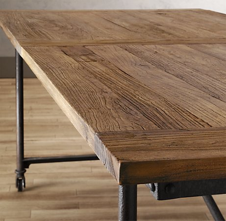 High Quality Source I Saw This Table Last Week At The Restoration Hardware Outlet Store.  Itu0027s Made Of Sanded Reclaimed Wood. Sadly, It Was Still Way Beyond My Reach  Even ...